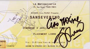 Sanséverino à la maroquinerie Autographes